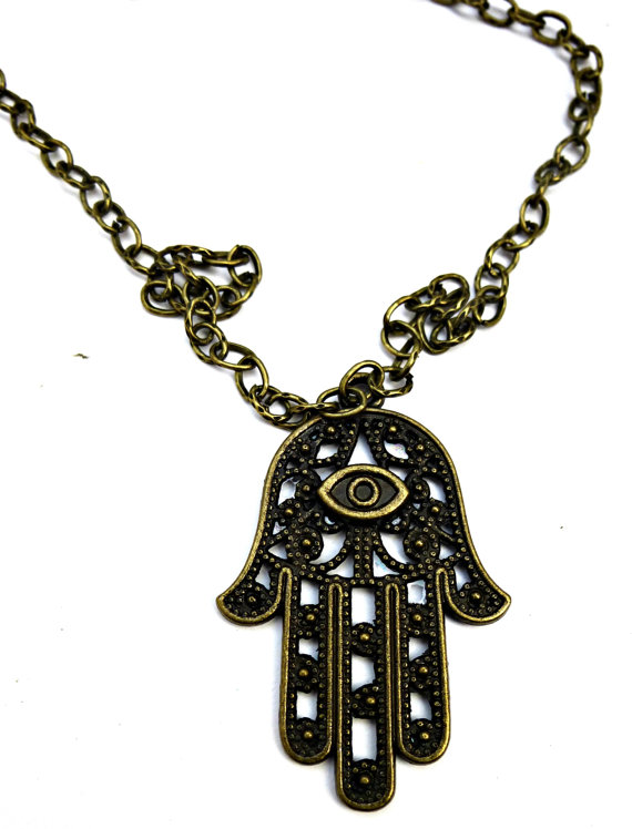 Antique brass necklace hamsa hand boho jewelry fatima hamsa antique brass necklace hamsa hand boho jewelry fatima hamsa jewelry necklace protection pendant sacred symbol aloadofball